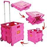 Großes 35kg Faltbarer Gepäck Warenkorb Festival Shop Trolley Box Supermarkt