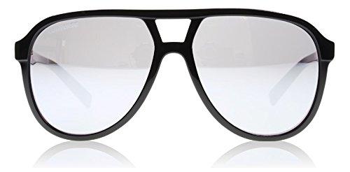 Converse Schwarz B012 Aviator Sunglasses Lens Category 3 Lens Mirrored