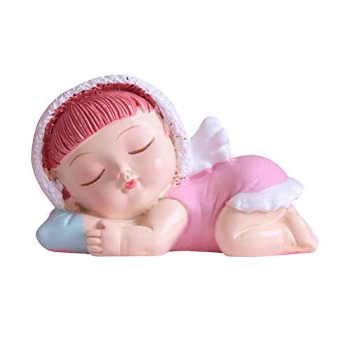 Torten Dekoration Kuchen Figur Schlafende Baby Engel mit Flügeln Kuchen Dekoration Ornament (Mädchen) (Color : -, Size : (Baby Engel Mit Flügeln)