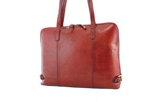 Borsa shopping, Katana, in pelle di vacchetta 82574 K rosso