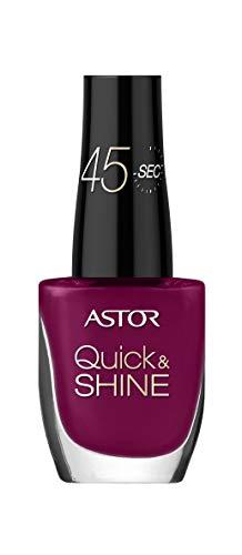 Astor Quick & Shine Esmalte de uñas de secado rápido y con acabado brillante, color 544 Cool Burgundy (rojo), 2 unidades…