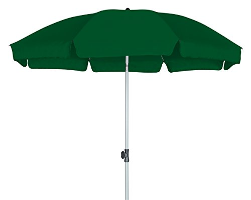 GoodSun Sonnenschirm BE, dunkelgrün, 200 cm rund, Gestell Stahl/Kunststoff, Bespannung Polyester, 2.3 kg