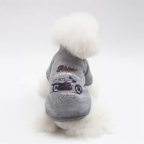 DFHJSXD Hund Baby Haustier Hund Kleidung Hersteller Taobao Explosion Modelle Herbst und Winter Spot Kleidung-grau - Baby Kleidung Hersteller