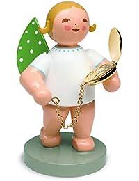 Wendt & Kühn Begleiter, Engel mit Taschenuhr, vergoldet Goldedition No. 12 Engelfarbe Blond