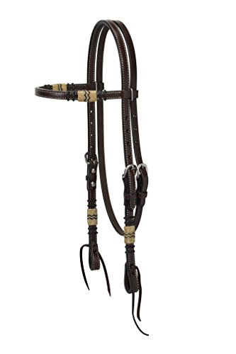 turquoise-cross-45-0110-rawhide-accented-browband-headstall-horse-size-dark-oiled