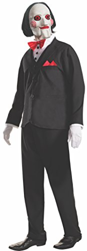 Imagen de rubie 's–disfraz de oficial adultos jigsaw película de terror saw puppet billy–disfraz de halloween alternativa