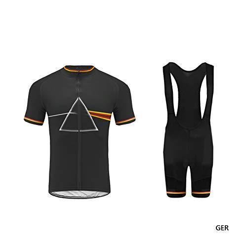 Uglyfrog XIN03 2019 Neu Sommer Herren Radsport Trikots & Shirts Bike Wear Kurzarm Cycling Jersey+Bib Kurze Hosen with Gel Pad Set Schnelltrocknend Sport Bekleidung - Castelli Free Bib