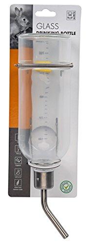 Kleintiertränke Nagertränke Nippeltränke Trinkflasche aus Glas - 750 ml