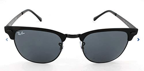 Ray-Ban Unisex-Erwachsene 0RB3716 186/R5 51 Sonnenbrille, Shiny Black Top Matte/Blue,