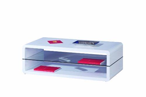 Inter Link Links 50100135 Xoxo Table Basse Blanc Laqué 120 x 60 x 40 cm