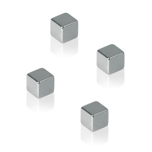 Sigel GL190 SuperDym-Magnete, 4er-Set für Glas-Magnettafeln - viele Designs/Stückzahlen