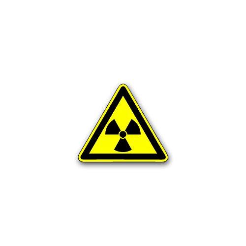 Copytec Aufkleber/Sticker -Radioaktiv Radioaktivität Strahl Atomkerne Atom radioaktiver Zerfall Kernzerfall Gefahr Warnzeichen Warnung Symbol 8x7cm #A2615 Atom-design