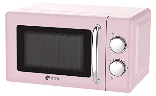 Microondas vintage básico colores pastel Rosa