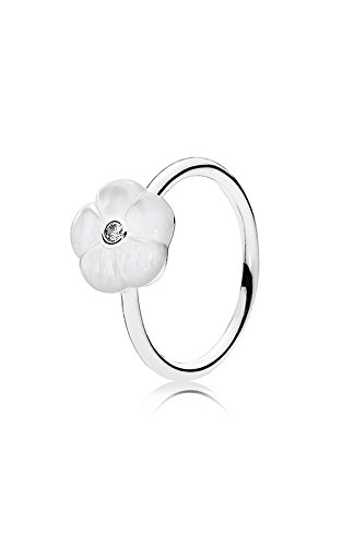 anello pandora fiore bianco