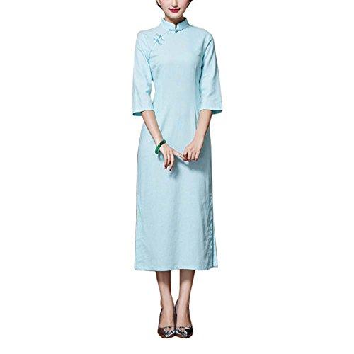Chinesische traditionelle Stil Solid Color Kleid Cheongsam Qipao Party Kleider, ()