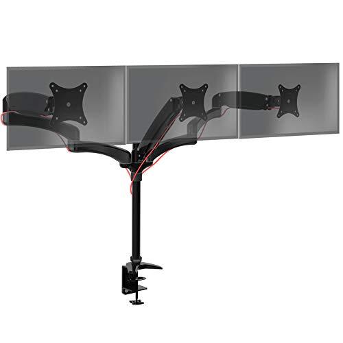 Duronic DM553 Monitorhalterung/Tischhalterung/Monitorarme/Monitorständer für LCD/LED Computer Bildschirme/Fernsehgeräte mit Neig und Rotierfunktion -