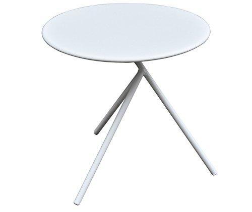 PEGANE Table d'appoint en Acier Coloris Blanc - Dim : 44 x 45 x 44 cm