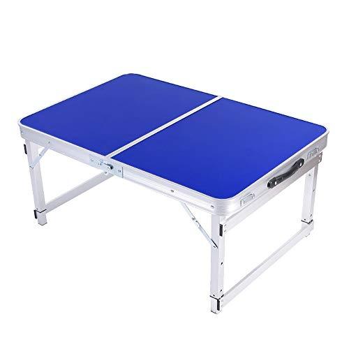 WPCBAA Klapptisch mit Verstellbarer Höhe, Klapptisch für den Innenbereich im Freien, tragbarer klappbarer Camping-Tisch für Picknick-Grill-Strandreisen Klapptisch im Freien (Farbe : Blau) -