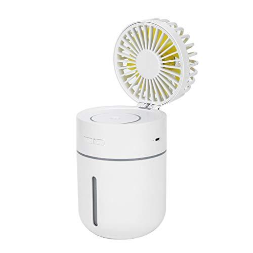 Hirolan Mini USB Tragbarer Luftbefeuchter Auto Luftgebläse Diffusor Luftreiniger Zerstäuber Tragbarer Mini Lüfter Elektrischer USB Ventilator mit Aufladbarem