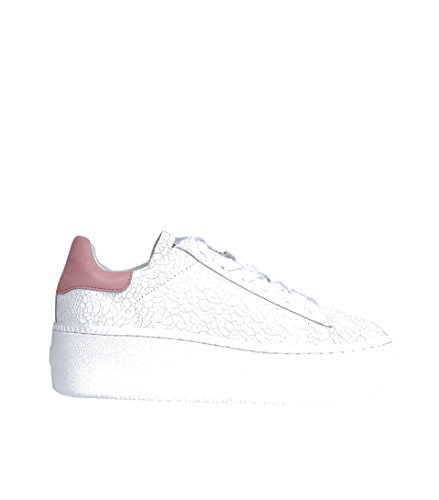 ASH Damen Sneaker Cult mit Bruch-Leder in Weiss white blush