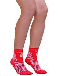 Medilast D207RB - Calcetines cortos de running unisex, color rojo, talla L