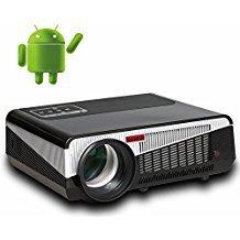 5500 lumen smart Android 4,4 lcd tv führte projektor volles hd zubehör 1920x1080 3d heimkino projetor video proyector beamer (Lcd-tv-w-dvd)