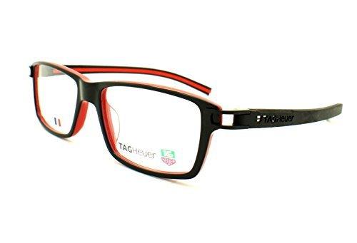Preisvergleich Produktbild Tag Heuer Gläser Frames Brille TH 7601 001 Schwarz Rot