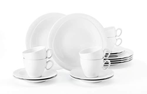 Seltmann Weiden 001.736893 Kaffeeservice 18-teilig Trio weiß