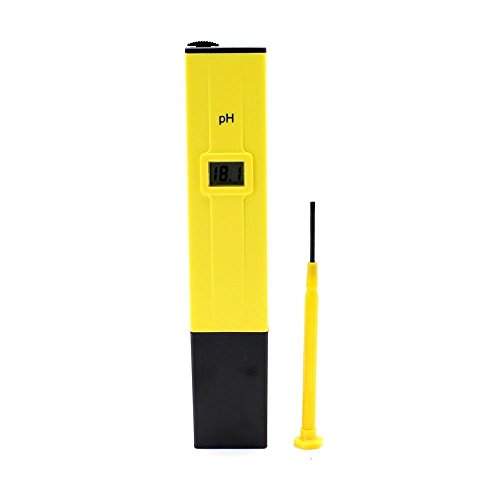 PH - SODIAL(R)Yellow With Black Ph Meter Tester Screwdriver Water LCD Monitor Pen Aquarium