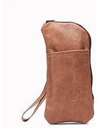 Cartera de mano con asa para hombres, bolso de mano para hombres, bolso elaborado artesanalmente de cuero
