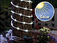 Lunartec 7 Meter Solar-Lichtschlauch mit 50 LEDs in Brillantweiß