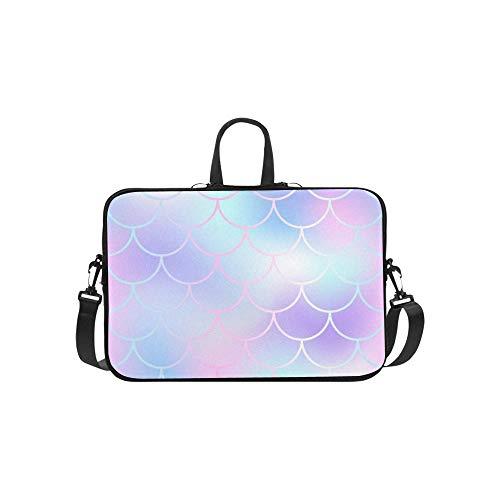 (Fischschuppe Blasse Farbe Mesh Aktentasche Laptoptasche Messenger Schulter Arbeitstasche Crossbody Handtasche Für Geschäftsreisen)