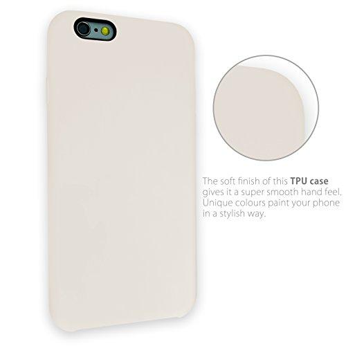 MyGadget TPU Silikon Hülle für - Apple iPhone 6 / 6s - ultra dünn (1 mm) inkl. Staubschutz Gummi Schutzhülle Cover Crystal Case Silikonhülle in Grau Gummiert Beige