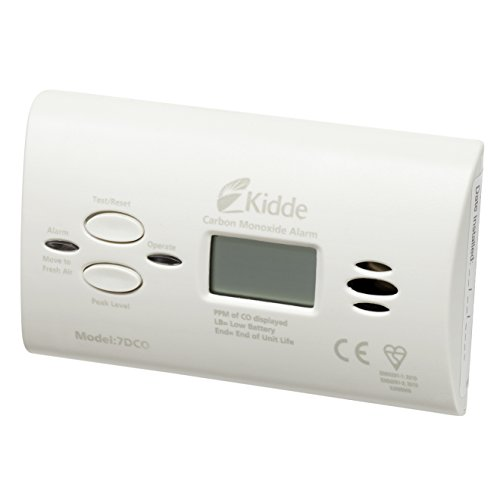 Kidde 7DCO Carbon Monoxide Alarm (replaceable batteries) Digital Display 10 Year Sensor and Warranty
