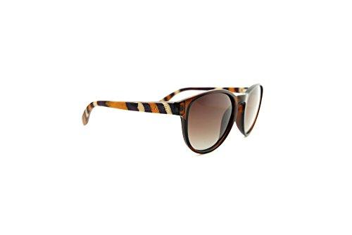 LIVEALIFE Holzbrille Sonnenbrille Bügel Holz Candywood Federscharniere Greysy Greg UV400 rund dunkel schwarz 2017 orange rot braun Kunststoff