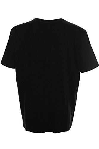 Kitaro T Shirt Herren Kurzarm Rundhals Baumwolle Schwarz