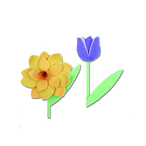 sizzix fiori di primavera fustella, multicolore, taglia unica