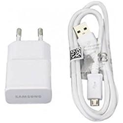 Samsung Ensemble de câbles pour I9505 Galaxy S4 avec câble de charge ETA-U90EWEGSTD, câble de données ECBDU4AWE, chargeur secteur MicroUSB 2 A 2000 mAh Blanc