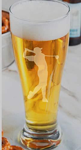 Golf Pilsner Glass Golfer Gift Golfer Beer Glass Gift for Golfer 16oz Libbey Pint Glass -