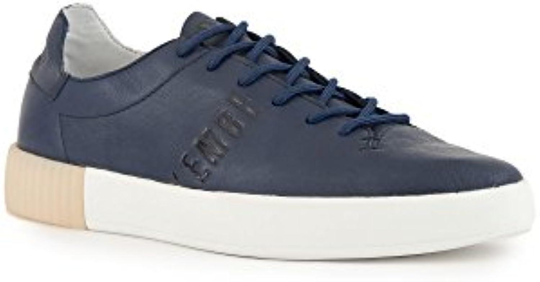 Bikkembergs Zapatillas de Piel Para Hombre Azul Turquesa * -