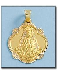 LIOR -Colgante -Medalla Oro de Ley 18k(750) Virgen de Rocio 24mm