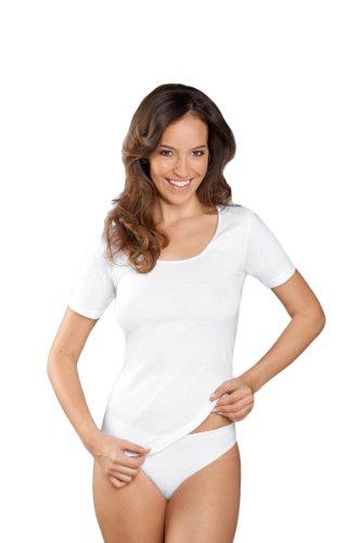 NATURANA Damen-Unterhemden 3er Pack 2522, 38-52 Weiß