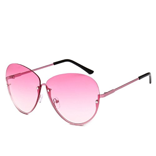 Metal Frameless Fashion Big Sunglasses Sunglasses
