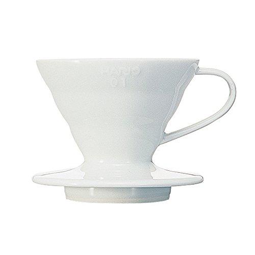 Hario VDC-01W V60 Kaffeefilterhalter, Porzellan, 1/1-2 Tassen, weiß