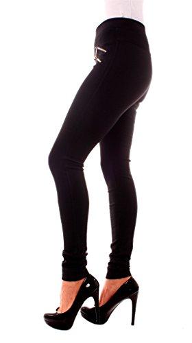 Easy Young Fashion -  Pantaloni  - Jeggings - Donna Nero