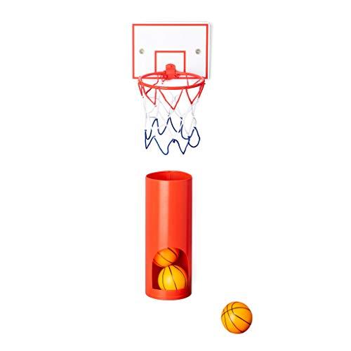Balvi Panier de Basket Private avec 3 Petites balles de Basket Jeu pour Les WC Plastique ABS/Plastique PVC