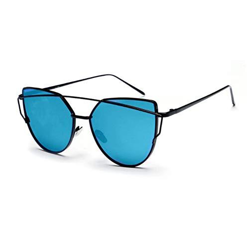CCGSDJ Rosa Vintage Spiegel Weiblich Frauen Cat Eye Sonnenbrillen Damen Sonnenbrillen Für Frauen Oculos Feminino