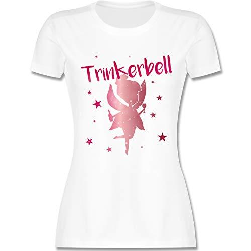 Karneval & Fasching - Trinkerbell Rot - S - Weiß - L191 - Damen Tshirt und Frauen T-Shirt