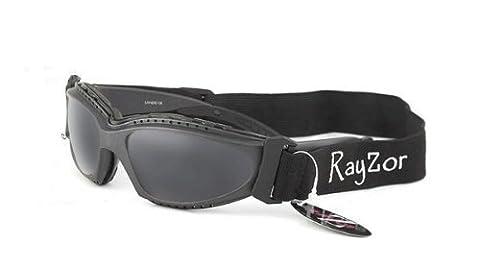 Rayzor Professionelle UV400 Gun Metal Grau 2 In 1 Ski-