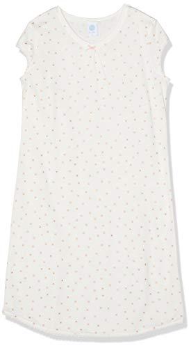 Sanetta Mädchen Sleepshirt Short Nachthemd, Beige (Broken White 1427), 128